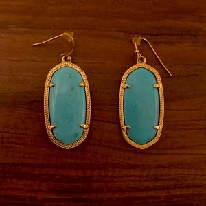 Kendra Scott Elle Drop Earrings Turquoise